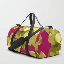Succulent Plants On A Burgundy Background #decor #buyart #society6 Duffle Bag