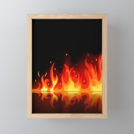 Feuer - Fire Framed Mini Art Print