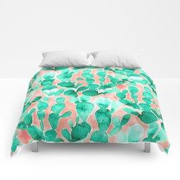 Paddle Cactus Blush Comforters
