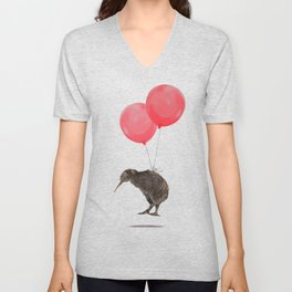 Kiwi Bird Can Fly Unisex V-Neck