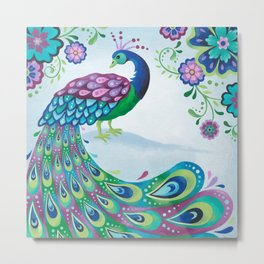 Flaunting It Peacock Metal Print