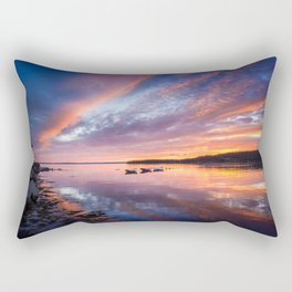Sunset in French Village, Nova Scotia Rectangular Pillow