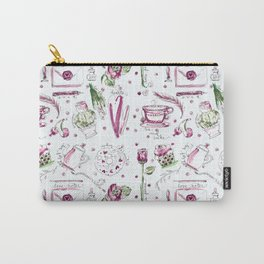Love Note watercolor pattern Carry-All Pouch