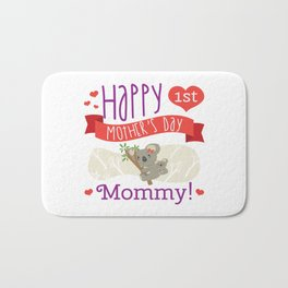 Happy Mothers Day Message Mom Grandma Koala Gift Bath Mat
