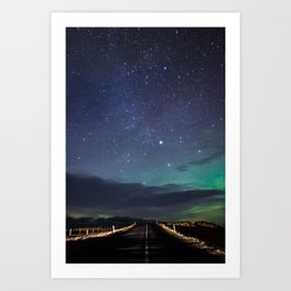 Northern Lights Nights Art Print