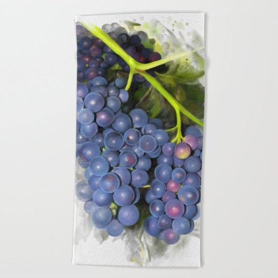 Concord grape Beach Towel