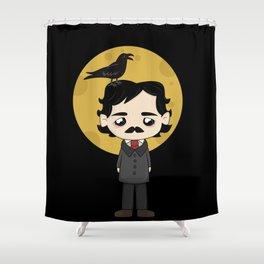 Cute Edgar Allan Poe Shower Curtain