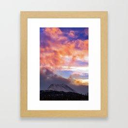 Flat Top Storm Clouds - Alaska Framed Art Print