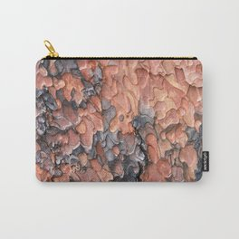 Close up texture of Ponderosa Pine Tree bark peeling Carry-All Pouch