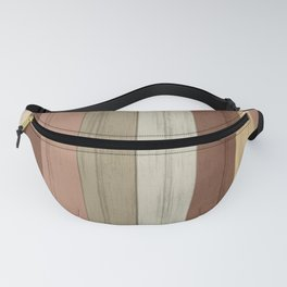 Earth tone Stripe Wood Pattern Fanny Pack
