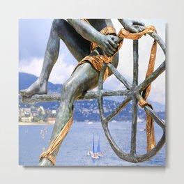 Statue de Monaco Metal Print