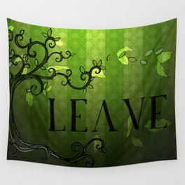 LEAVE - Summer Green Wall Tapestry