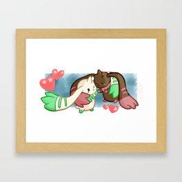 Digi-Siblings Framed Art Print