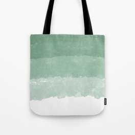 Modern lucite green abstract watercolor ombre pattern Tote Bag