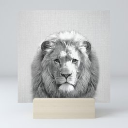 Lion - Black & White Mini Art Print