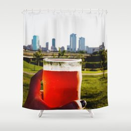 Good Beer In A Good City. Shower Curtain