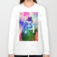 grimes Long Sleeve T-shirts featuring Grimes Watercolor by Toki Hernandez