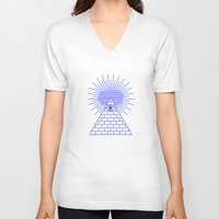evil eye V-neck T-shirts featuring EVIL EYE by Anna Lindner