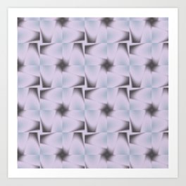 Origami Tiles Fractal in TPGY Art Print