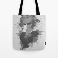 beethoven Tote Bags featuring BEETHOVEN by Resistance