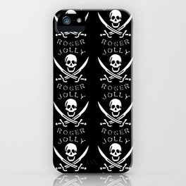 jolly-roger-pattern iPhone Case