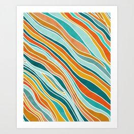 Tulum Summer Abstract Art Print
