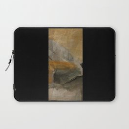 mountain in yellow sky Laptop Sleeve
