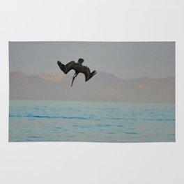Nose-diving pelican 2 Rug