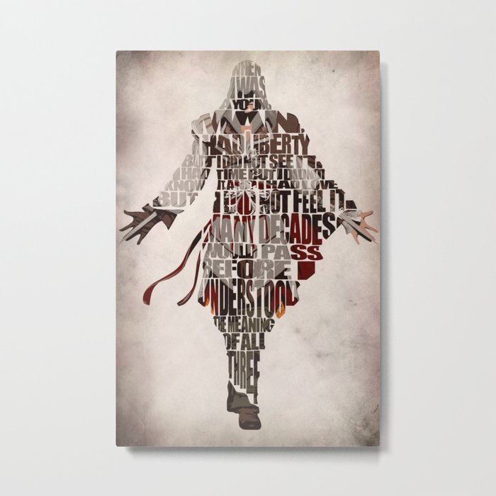 Ezio Auditore Da Firenze From Assassin S Creed 2 Metal Print By Aysetoyran