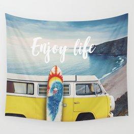 Enjoy life Wall Tapestry