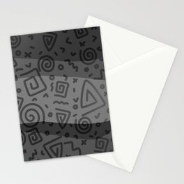 ETHNO PATTERN Modern | grey Stationery Cards