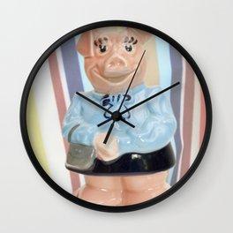 Nat West Piggy  Ceramics Wall Clock