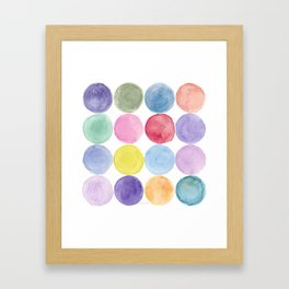dotted and well organized Framed Art Print