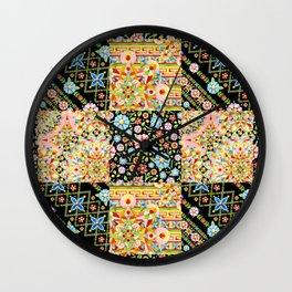 Crazy Crazy Printed Patchwork Wall Clock