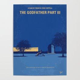 No686-3 My Godfather III minimal movie poster Poster