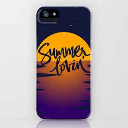 Orange Sunset (Summer Lovin') iPhone Case