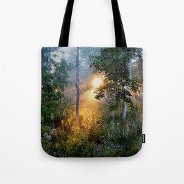 Sunrise in the Dreamy Mist Tote Bag