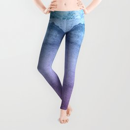 Watercolor Mystery - Blue and Purple Leggings