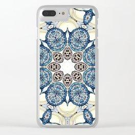 Blue fruit Clear iPhone Case