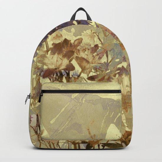 floral on beige Backpack