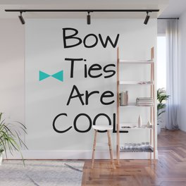 DOCTOR WHO Bow Ties Are Cool Aqua Wall Mural
