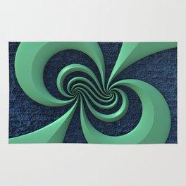 Green on Blue Rug