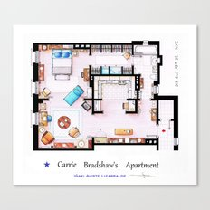 Carrie Bradshaw apartment from Sex and The City Canvas Print