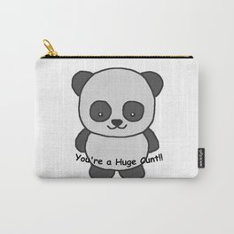 Panda says you're a huge cunt Carry-All Pouch