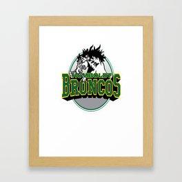 Humboldt Broncos Logo Framed Art Print