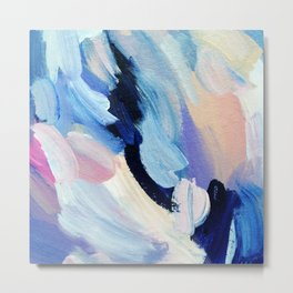 Bibbity Bobbity Blue (Abstract Painting) Metal Print