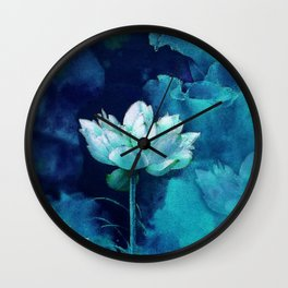 Moonlight Water Lily Wall Clock