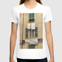 Hanging laundry T-shirt