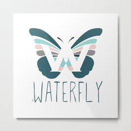 WaterFly Metal Print