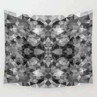gray pattern Wall Tapestries featuring Gray pattern 100115b by Veronika